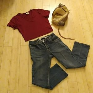 Gap Boot Cut Ankle jeans, stretch denim size 2